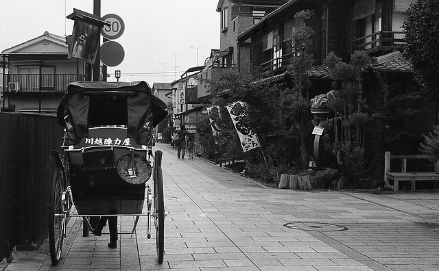 Rickshaw in a street