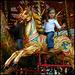 golden galloping horse