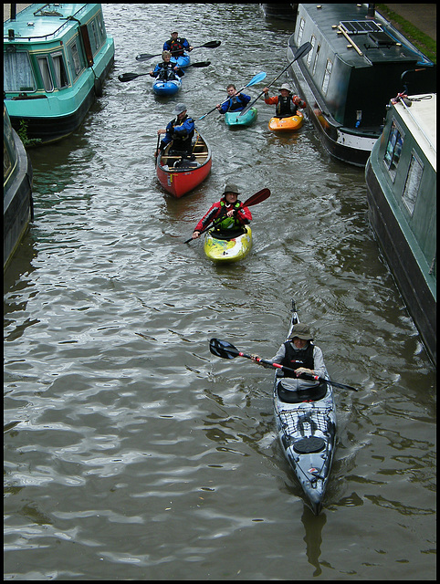 kayaking on the Oxford Canal