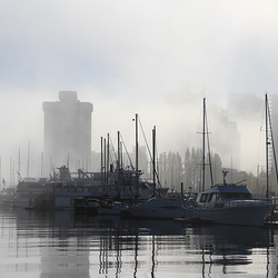 Misty Morning on the Vancouver Waterfront