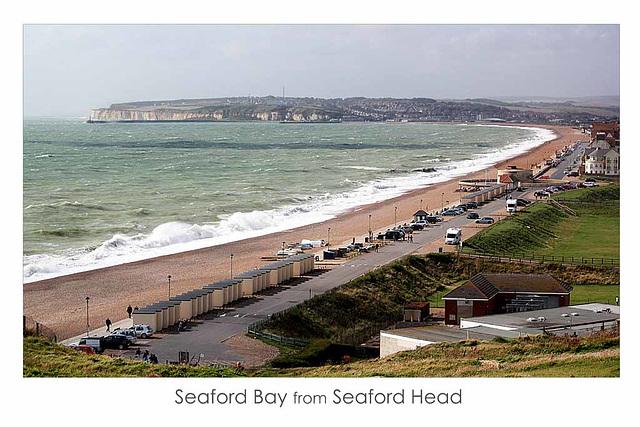 Seaford Bay from Seaford Head - 29.8.2014