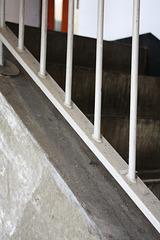 White railings and more concrete