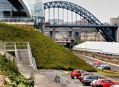 The Tyne bridge.