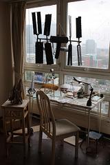 The artists desk