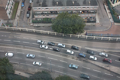 Blackwall Tunnel northern aproach from on high