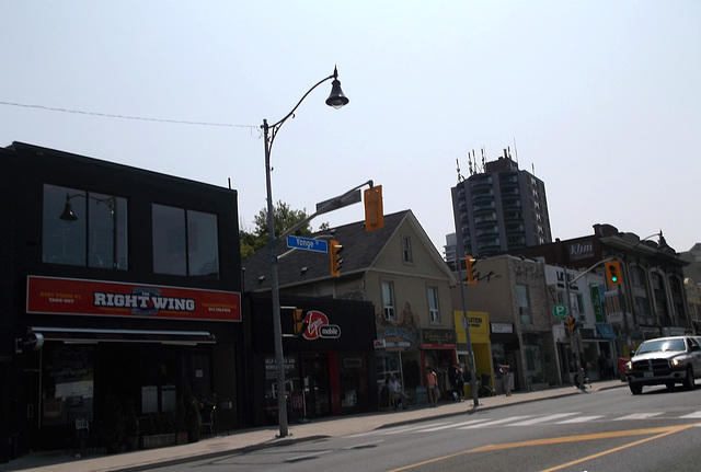 The right wing on Yonge street .....