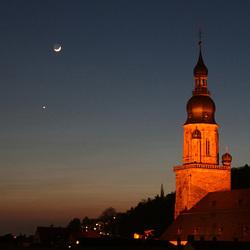 #7 Maan en Venus boven Heidelberg