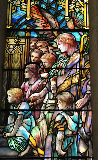 Tiffany window, St Andrew's Church, Kimbolton, Cambridgeshire