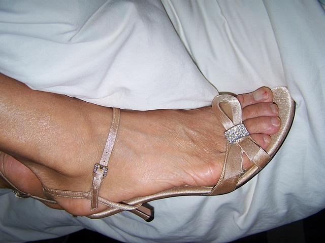 gold  BP heels