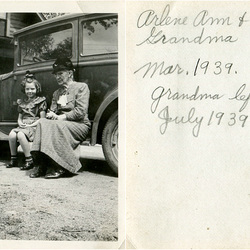 Arlene Ann and Grandma (front and back of photo)