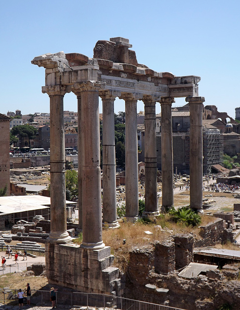 The Temple of Saturn in the Forum Romanum, July 2012