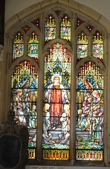 Tiffany window, St Andrew's Church, Kimbolton, Cambridgeshire