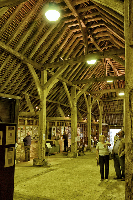 The Great Barn, Wanborough - interior