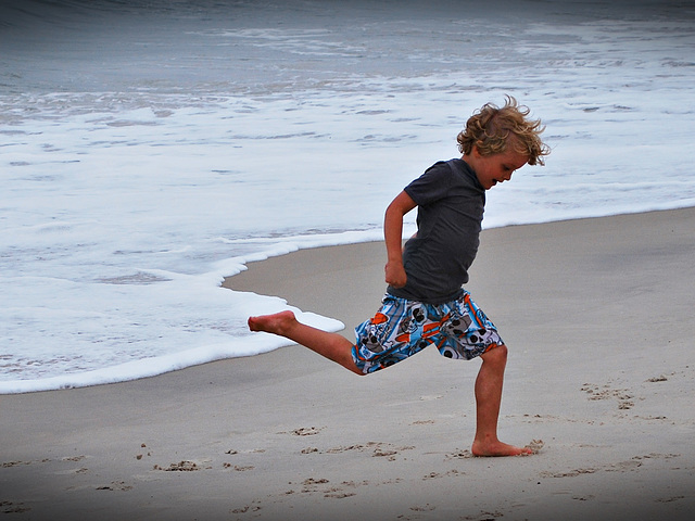 Frolicking by the sea..