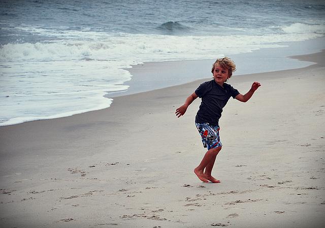 A Happy Dance on the Beach