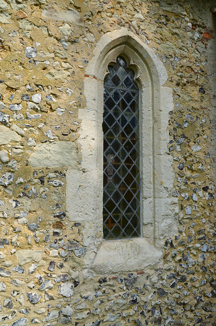 DSC 2291a Window and wall detail - St Bartholomew , Wanborough, Surrey