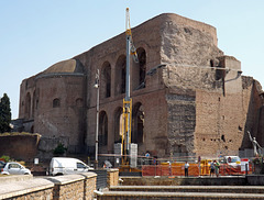 The Basilica of Constantine from Via Dei Fori Imperiali in Rome, July 2012