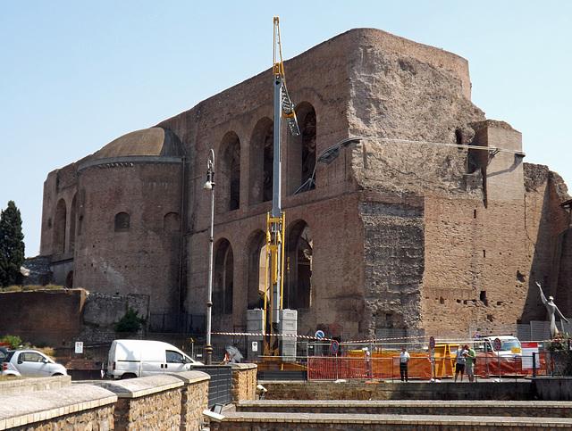 The Basilica of Constantine from Via Dei Fori Imperiali in Rome, July 2012