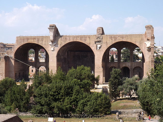 The Basilica of Constantine in the Forum Romanum, July 2012