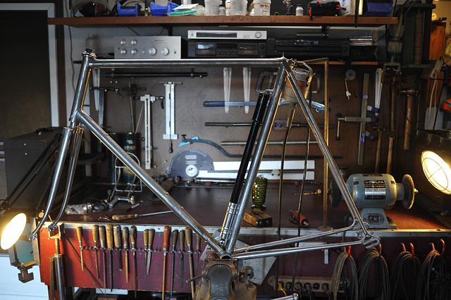 #721891 Frame & Fork Stripped in Bill Stevenson's shop (2012)