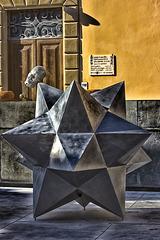MIMMO PALADINO'S SCULPTURE in Vinci Village
