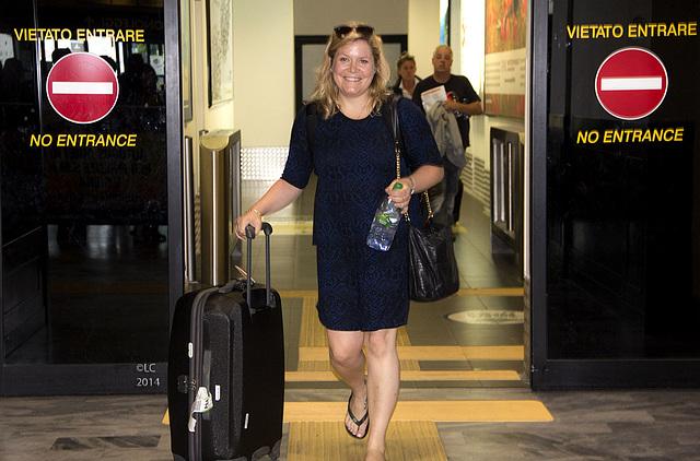 Tina arriving to Pisa