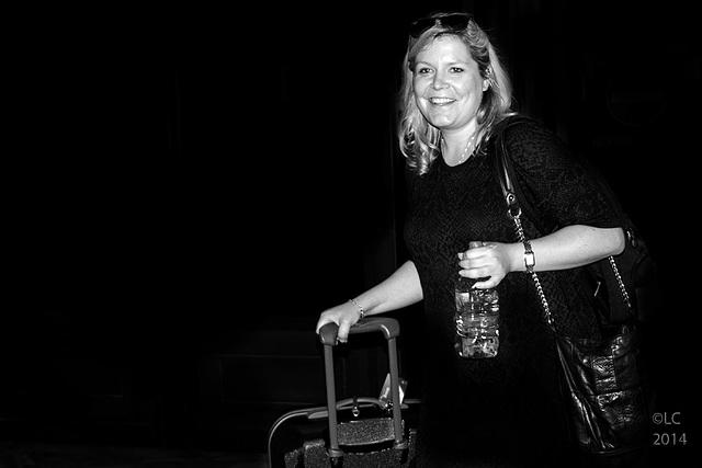 Tina arriving in Pisa's Airport