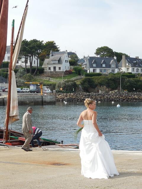 la mariée prend le large