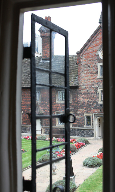 Looking out at the quad