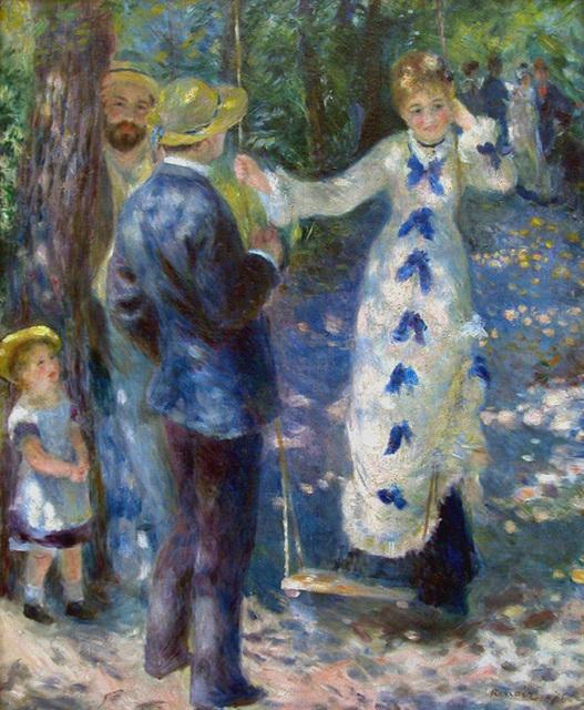 La Balançoire, œuvre de Pierre Auguste Renoir