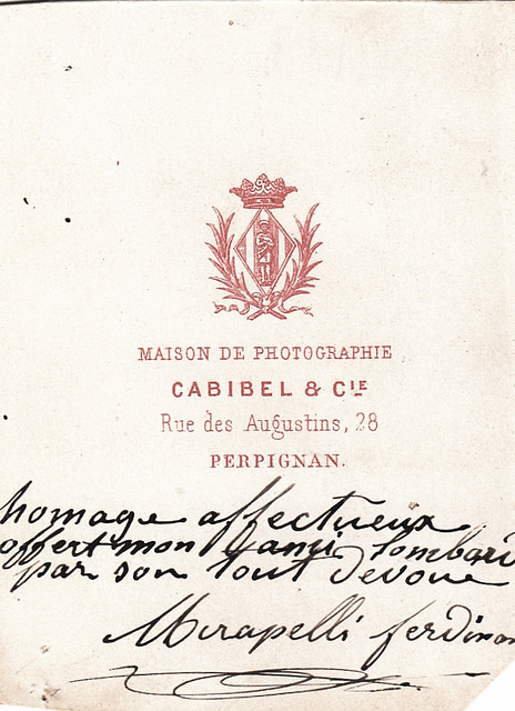 Ferdinand Mirapelli's autograph at the back