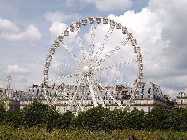 Ferris Wheel in the Tuileries Gardens in Paris, June 2014
