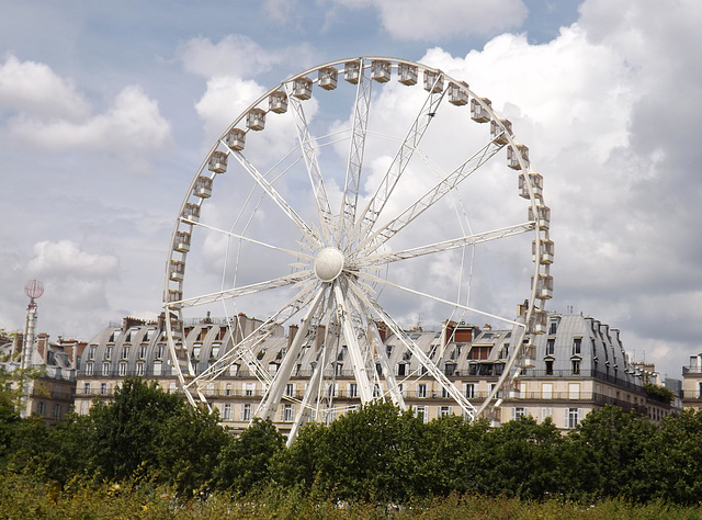 Ferris Wheel in the Tuileries Gardens in Paris, June 2014