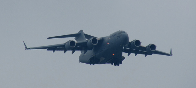 C-17 flying by