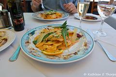 Lobster stuffed ravioli at Taverna Azzurra in Sorrento SOOC 052014-002