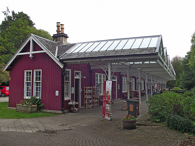 Strathpeffer station from the buffer stop