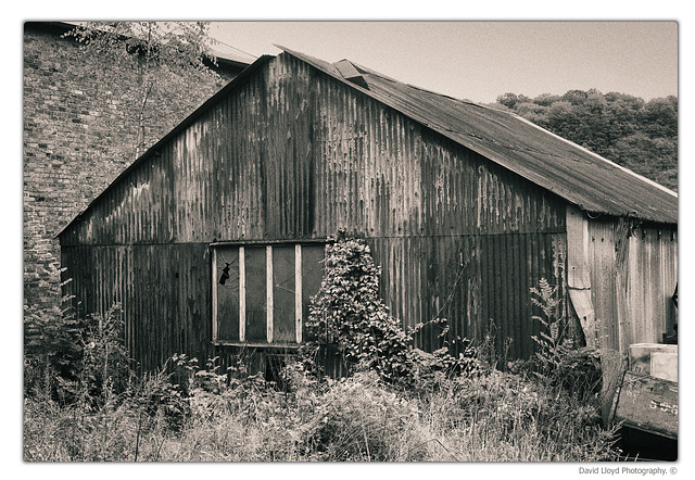 Old tin shed.