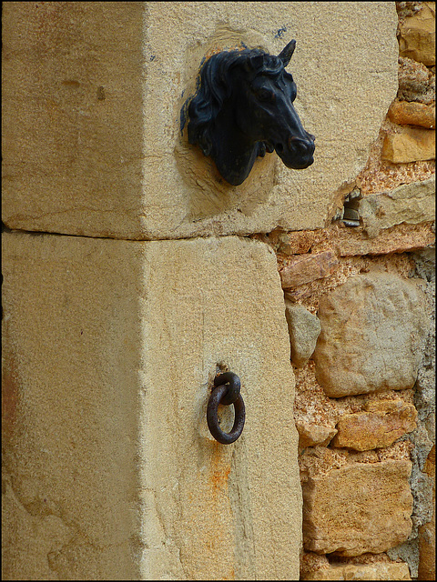 Les chevaux peuvent attacher ici leurs cavaliers... Horses can attach here their riders... :o))