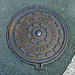 Caen 2014 – Manhole cover of Ateliers de Normandie of Caen