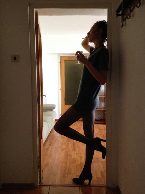 High... heels...