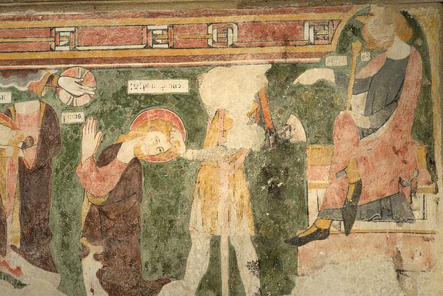 Le martyre de St-Principin - Eglise de Châteloy