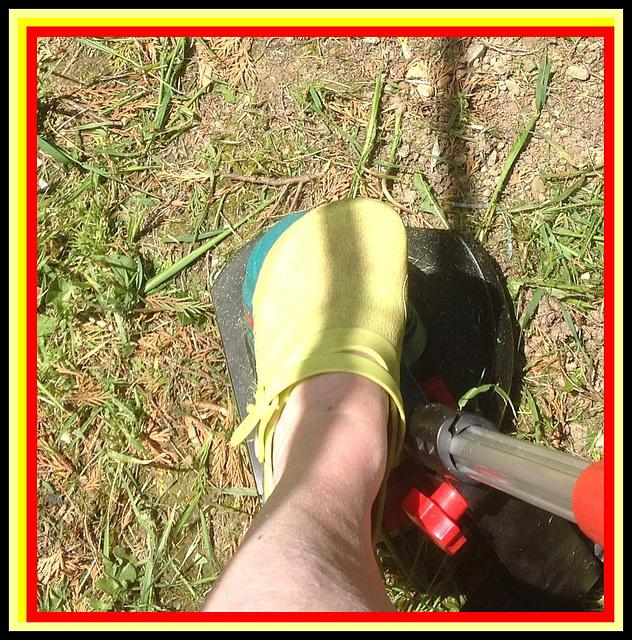 Christiane /Sabot jaune de jardin / Garden yellow clogs / Recadrage