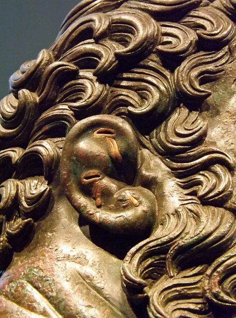 Detail of the Ear of the Boxer in the Palazzo Massimo in Rome, July 2012