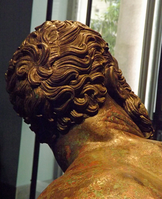 Detail of the Head of the Boxer in the Palazzo Massimo in Rome, July 2012