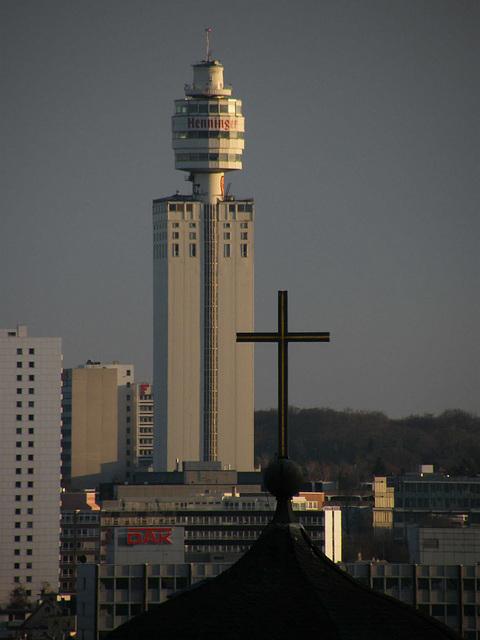 Henninger Turm. Blick von der Zeilgalerie
