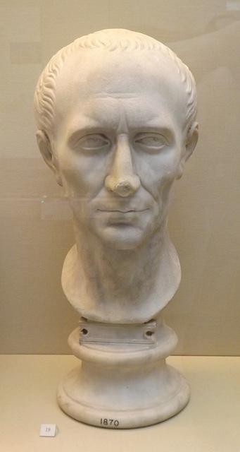18th Century Marble Head of Julius Caesar in the British Museum, May 2014