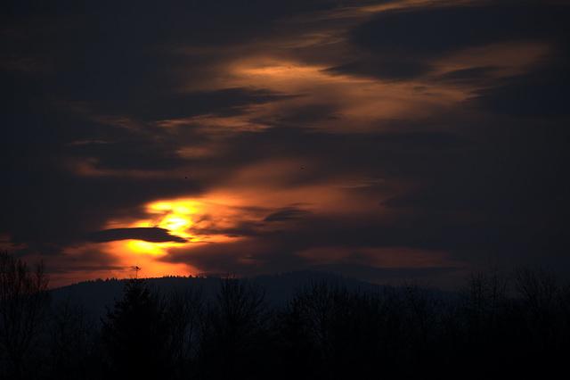 Sonnenaufgang in Einhausen
