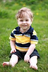 Mon petit fils Éliott 1 an au mois d'août
