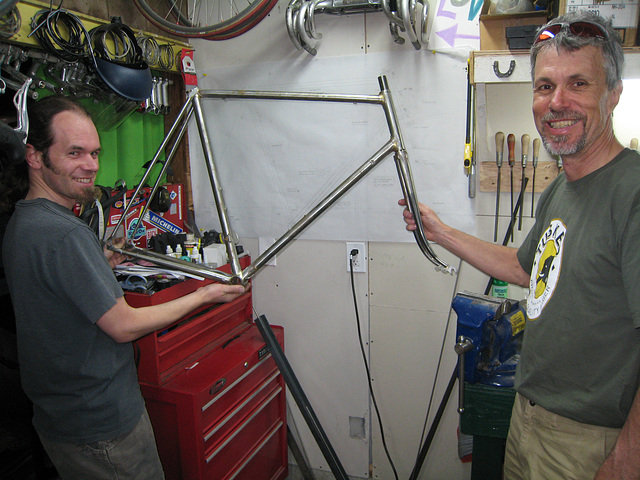 #CT209 in progress with builder, Corey Thompson (L), and owner, Alan Woods (2009)