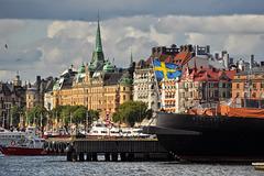 Unter schwedischer Flagge